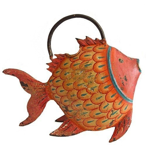 【第3世界ショップ】ブリキのじょうろ(魚)