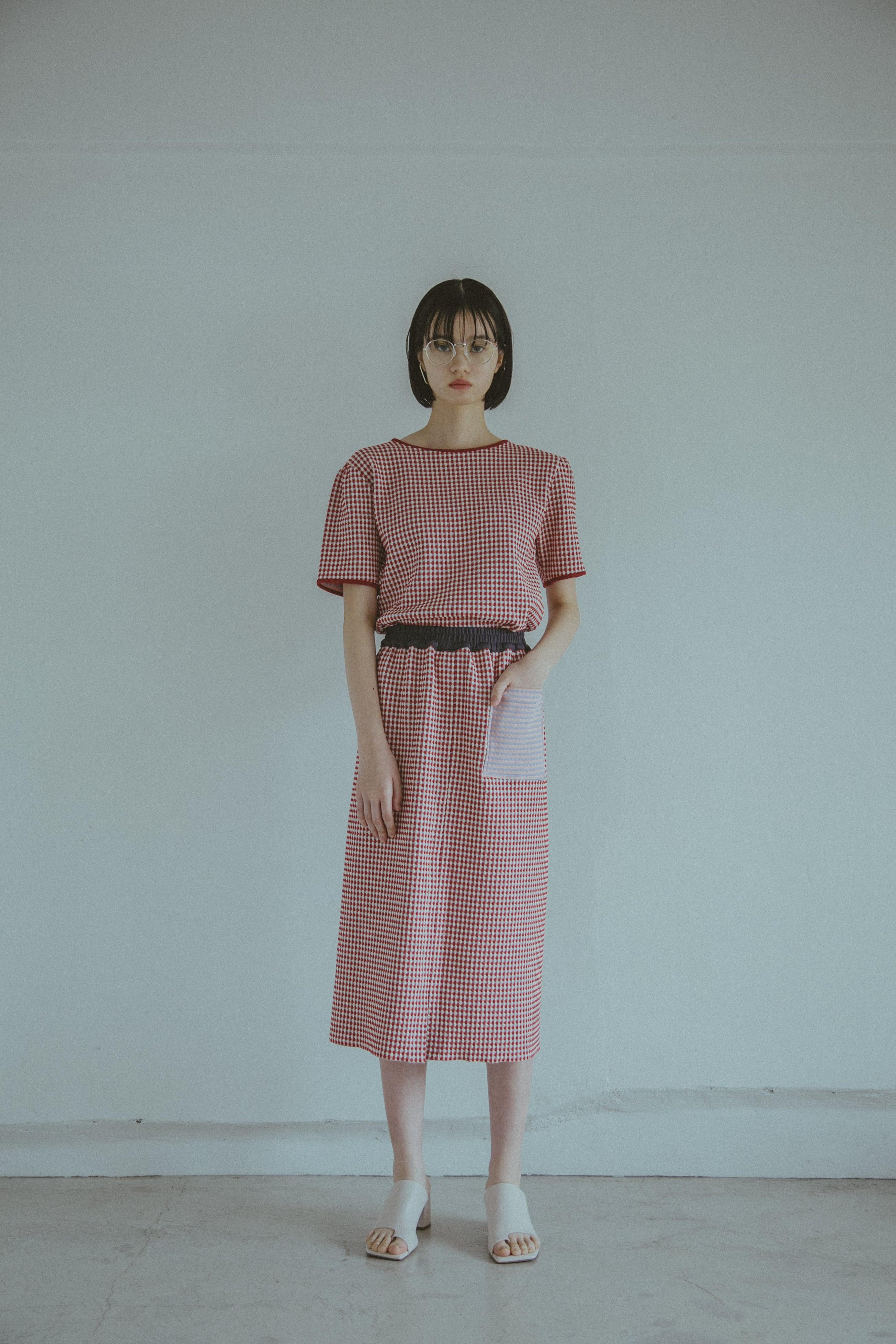 【受注】StSr YUKI SHIMANE 2way pencil sweat skirt