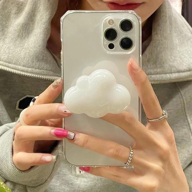 3D White clouds iphone case
