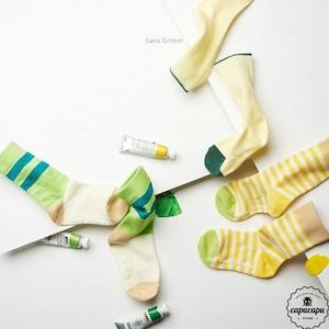 «sold out» stripe socks yellow 3set  ストライプ ソックス イエローセット 靴下