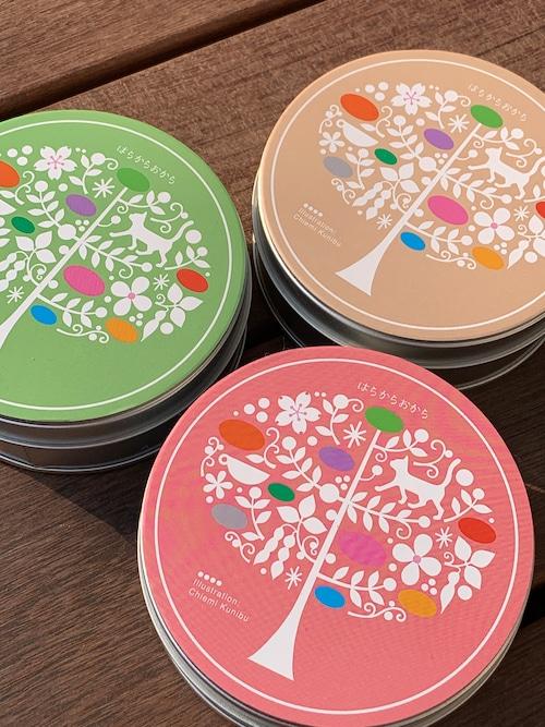 おからのほろほろクッキー 缶3種セット(プレーン・シナモン・抹茶)