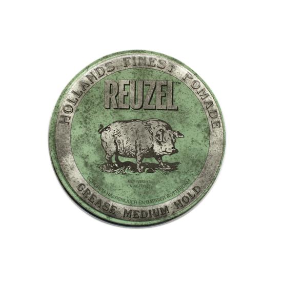 Reuzel(ルーゾー)  グリーンポマード 油性ミディアムホールド 緑缶 113g