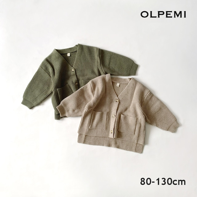 Vネックカーディガン【O051】