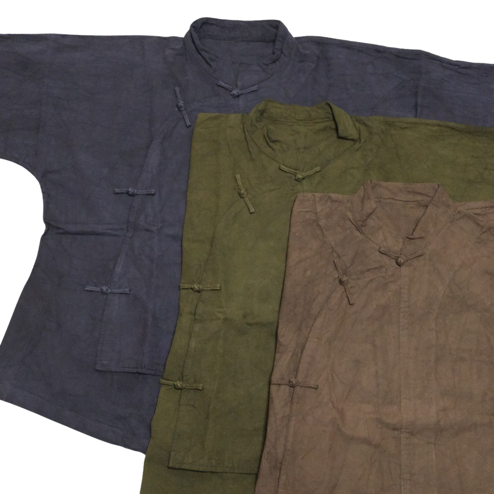 【select】[厚手]Diagonal button china shirt from TAIWAN(斜めボタンチャイナシャツ)J-011