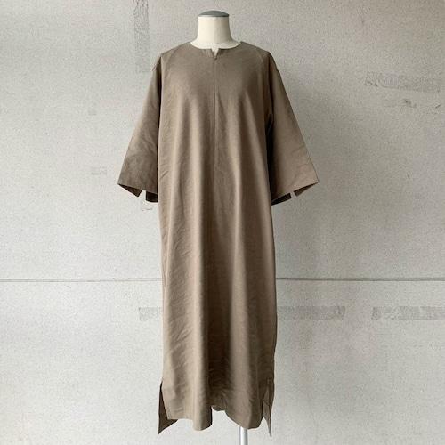 【COSMIC WONDER】Silk & Linen smock dress/13CW17248