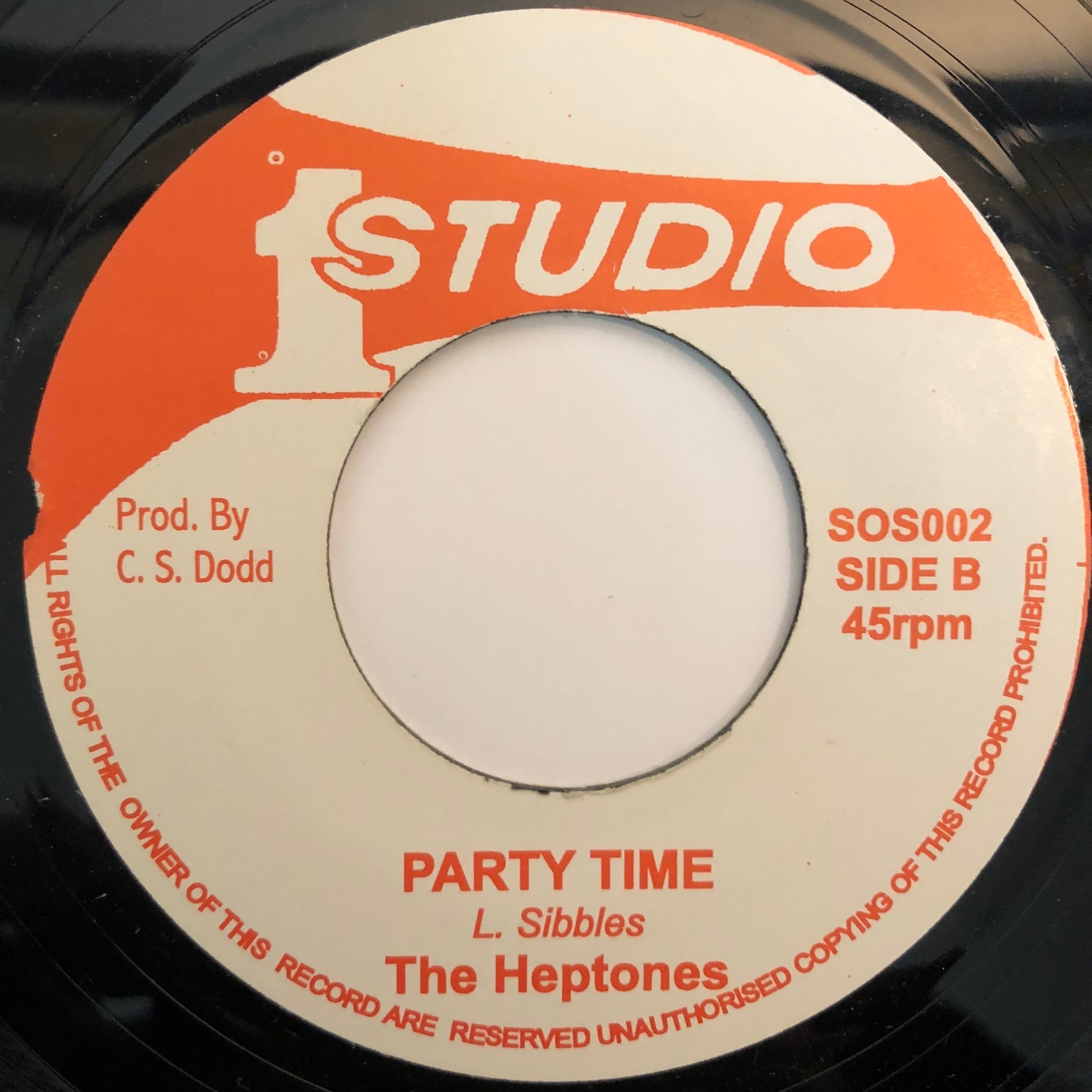 The Heptones - Party Time【7-20355】
