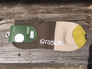 rasox  コットンリネン・スニーカー カーキ×ベージュ Mサイズ
