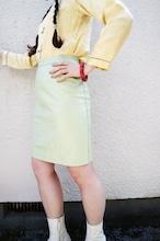 La France leather skirt