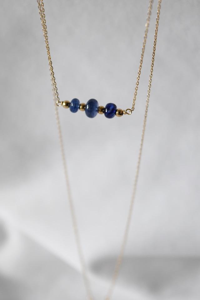 K18 Blue Sapphire Necklace 18金ブルーサファイアネックレス