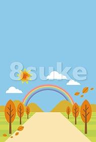 イラスト素材:秋の背景・バックグラウンド(ベクター・JPG)