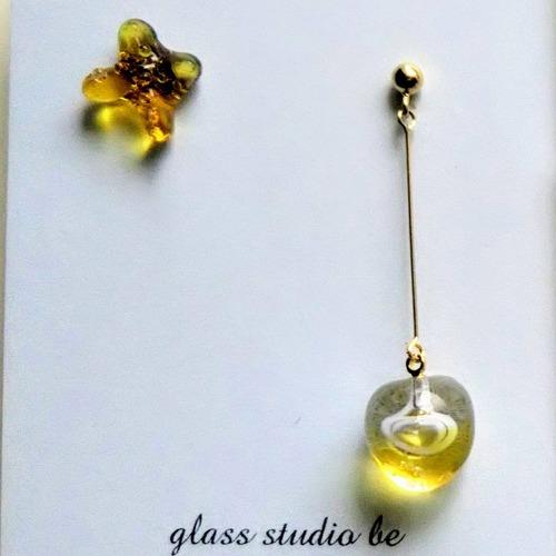 glass studio be NO.1 ヒカリ     ピアス or イヤリング