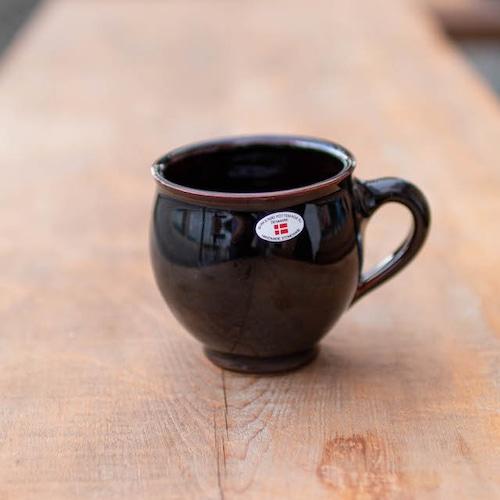 北欧デンマーク/ヘンリックさんマグカップ/黒・茶