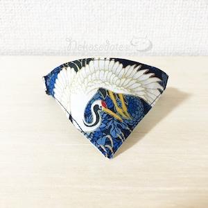 【鶴の羽ばたき】猫用バンダナ風首輪/選べるセーフティバックル 猫首輪