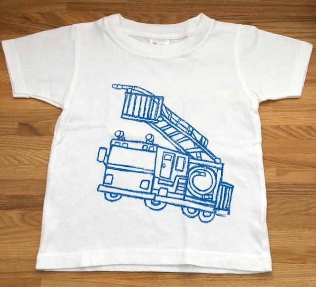おうちで作ろう!お絵かきTシャツ キット *はしご車・清掃車*80~140cm対応 送料無料