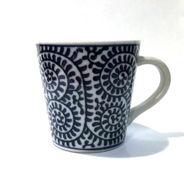 染付陶器 マグカップ コーヒーカップ 19lh56-cup 湯呑み 陶器 蛸唐草 唐草 和風 和柄 おしゃれ ギフト モダン 和