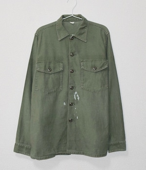 USED US ARMY UTILITY SHIRT WHITE PAINT