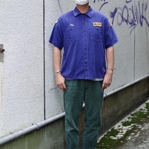 1990s〜 Dickies Cotton Work Shirt / 90年代〜 ディッキーズ ワークシャツ ナス紺