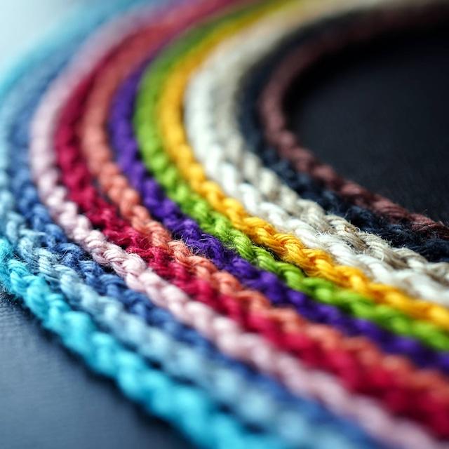 四つ編みヘンプ紐 [単色] 全13色