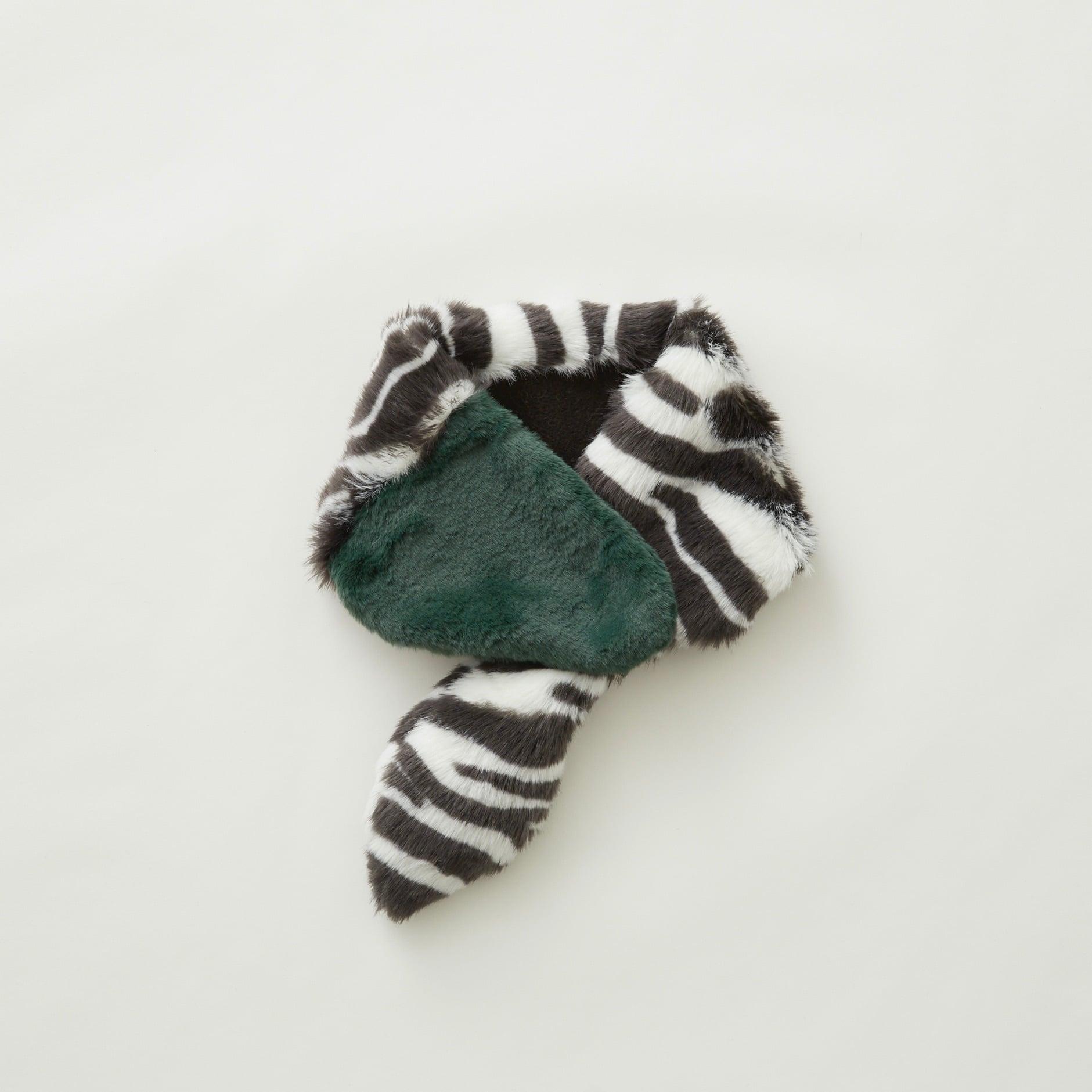 《eLfinFolk 2021AW》Rascal muffler / zebra × green / S(kids)