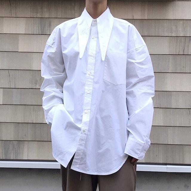 【WOMENS - 1 size】LARGE COLLAR SHIRT / White