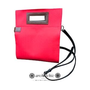 T・U・N・A・G・M・U 2Way Couverture  Livre / Solide – Réticule 紅絹