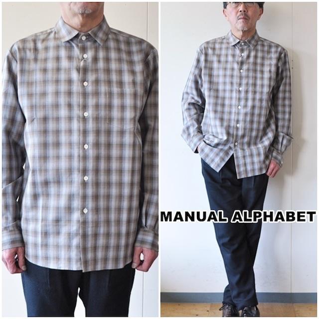 マニュアルアルファベット MANUALALPHABET レギュラーシャツ MA-S-542 チェック柄シャツ メンズシャツ