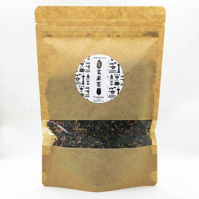 抹茶入煎茶玄米茶 リーフタイプ 200g