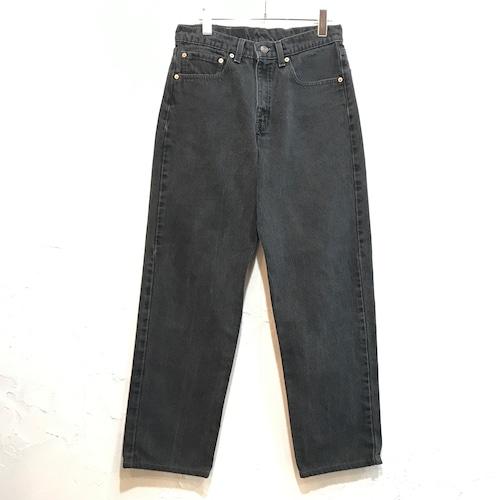 【USED】90s Levis 550 デニムパンツ テーパードパンツ ブラック W32