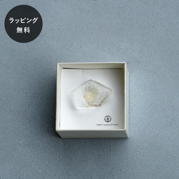 ハリオ HARIO ブローチ ストーン aa-0147