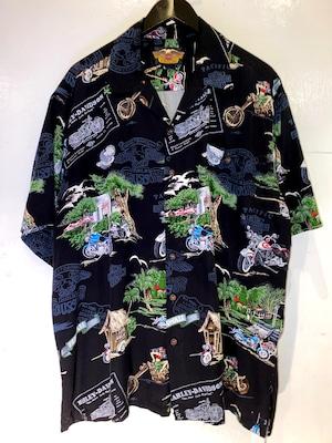 HARLEY DAVIDSON オープンカラーシャツ
