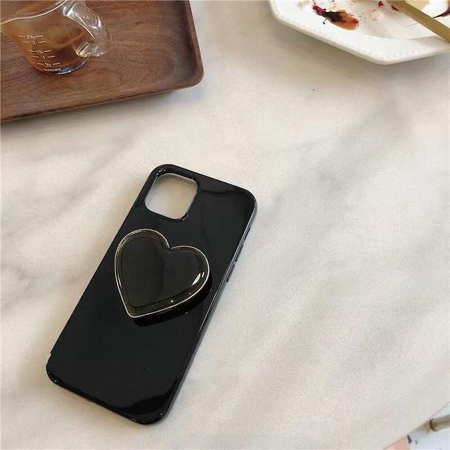Black heart grip iphone case