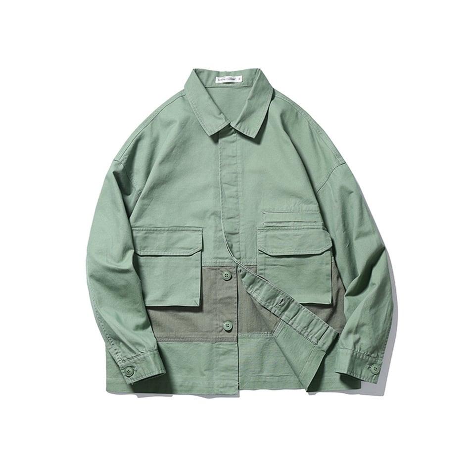 【UNISEX】ライトジャケット アウトドア マルチポケット カジュアルシャツ