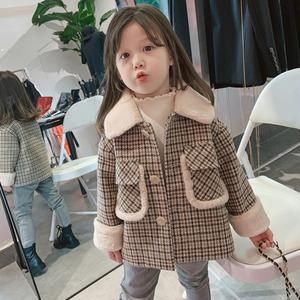 子供服 キッズ コート 女の子 男の子 ジャケット チェスターコート 冬 ツイードコート 防寒 アウター 厚手 ファー90cm-130cm 1531