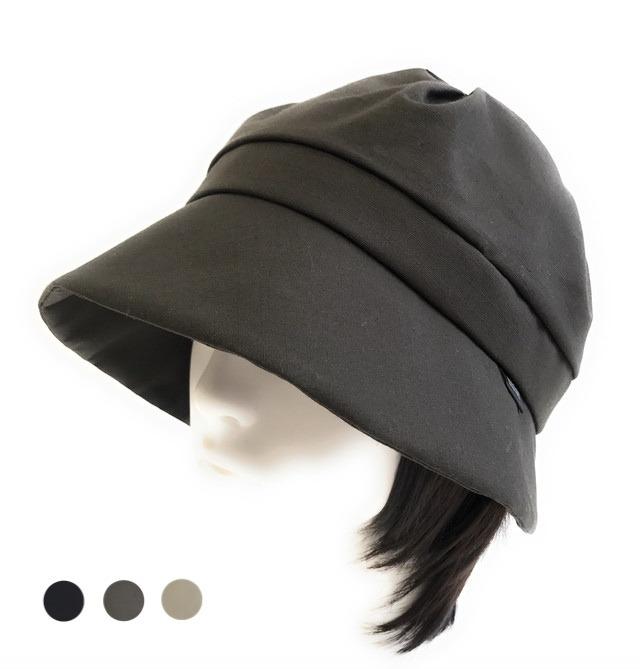 つけ毛付き:wig/レイヤーボブ/ ツバ広のクロシェット(裏シルク)53~58cm フリーサイズ