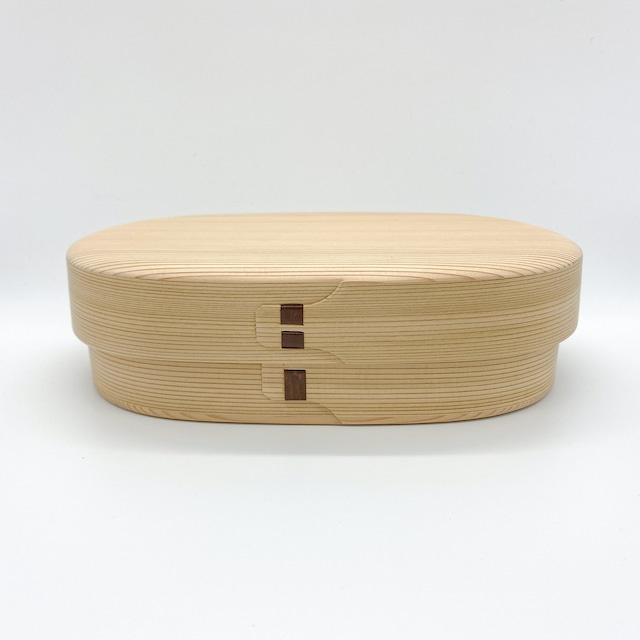 柴田慶信商店 曲げわっぱ|白木の弁当箱|小判弁当箱・大