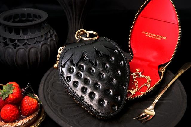 ヘタ付き黒いちごなキーケース(牛革製)