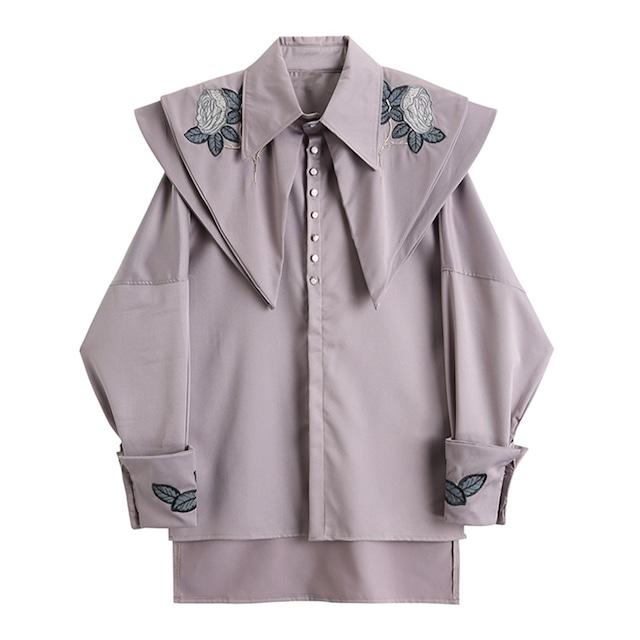 ローズデザインシャツ B210910