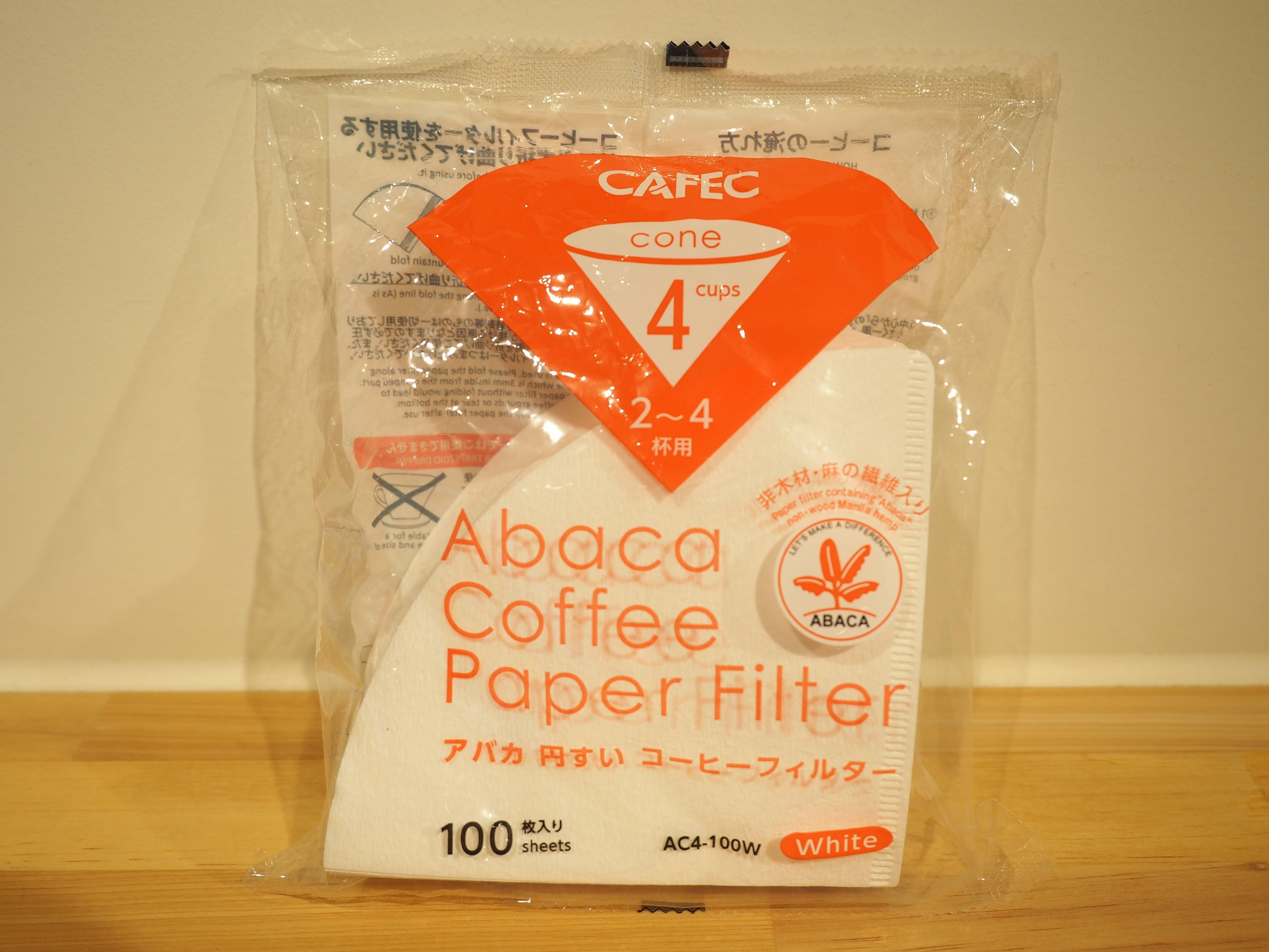 CAFEC アバカ円錐 コーヒーフィルター cup4