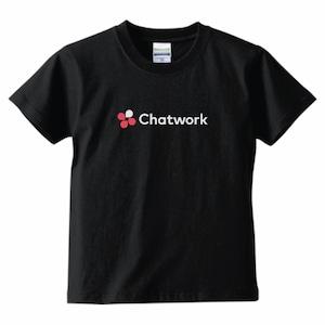 Chatwork LOGO Tシャツ Black(キッズ)