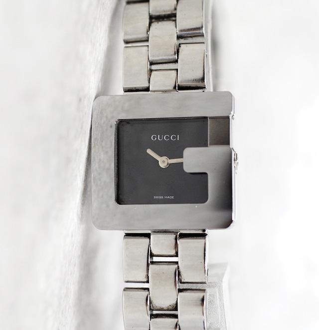 GUCCI グッチ 3600L SS クォーツ ブラック文字盤 レディース 腕時計