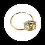 Stone Rings(ストーンリング)EMU015R-4  グリーンクオーツ