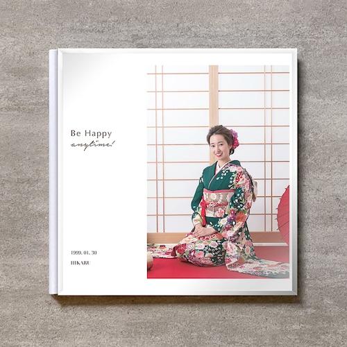Be Happy-WT(Vertical)-成人式_A4スクエア_6ページ/10カット_クラシックアルバム(アクリルカバー)