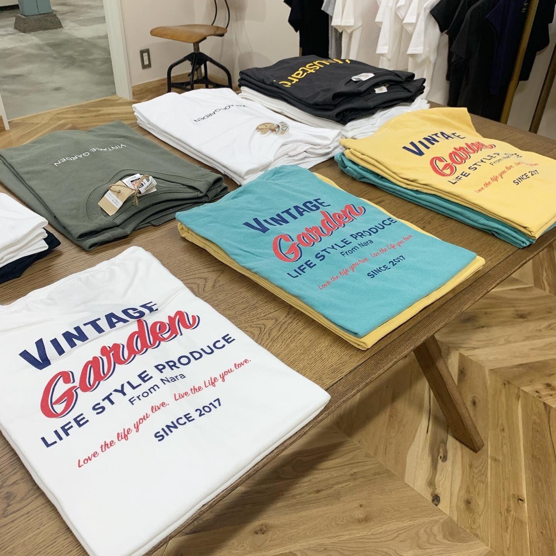 VINTAGE GARDEN バックロゴTシャツ