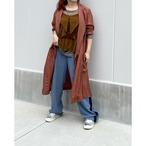 【hippiness】cupro coat(brown)/【ヒッピネス】キュプラ コート(ブラウン)
