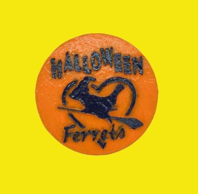 僕たちフェレット Halloween マグネットステッカー ⑤キャスト製(直径80mm)無料配送