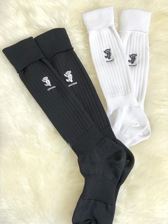 UNIONINI over-knee teddybear socks (black) 16-18cm/19-21cm/22-24cm