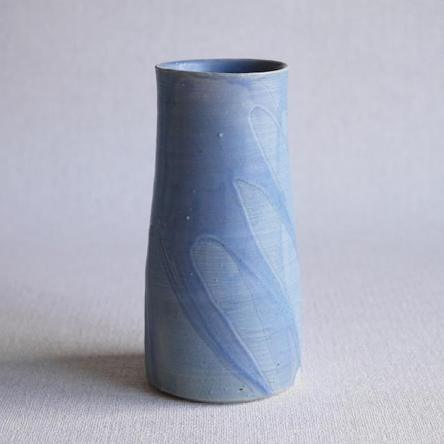 釉彩花器Blue ②