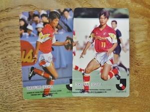 小倉隆史 2枚セット 1992-93 カルビー Jリーグチップス