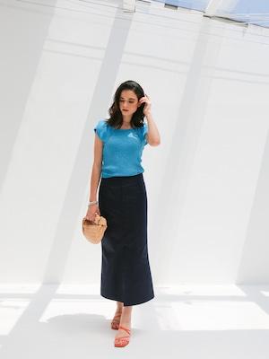 pencil skirt(navy)