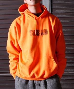 Needle Punch Box Logo PO Hoody -orange <LSD-BJ3T3>